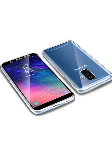 Microsonic Samsung Galaxy A6 Plus 2018 Kılıf 6 tarafı tam full koruma 360 Clear Soft Şeffaf Renksiz